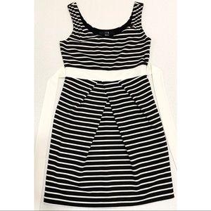 XXI Black & White Striped Pencil Dress
